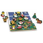 Melissa & Doug Wooden Chunky Puzzle, Christmas Tree, 13 Pieces