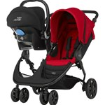 Britax Søskendevogn, B-Agile Double, Flame Red