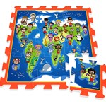 Play Puzzle play mat, Kids on earth map, 9 pcs