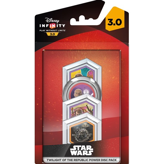 Disney Infinity Disney Infinity 3.0, Star Wars, Twilight of the Republic, Power Discs, 4-pack