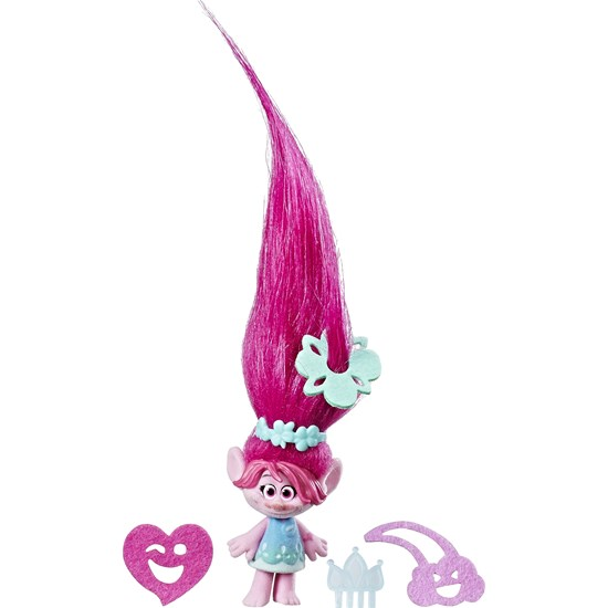 Trolls Hair Raising Doll, Small, Poppy