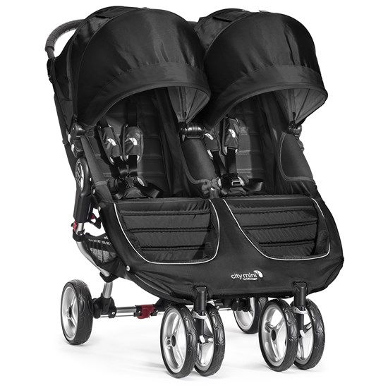 Babyjogger Klapvogn, City Mini Double, Black/Grey