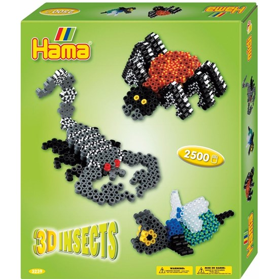 Hama Perler, Midi Gift Box, 3D Insects, 2.500 stk.