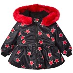The BRAND Peplum Collar Fur Jakke Red Allstar