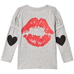 The BRAND Love Kiss T-shirt Grey Melange