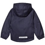 Minymo Jazz 44 -jacket -Herringbone -Baby jacket Dark Navy