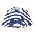 Grevi Blue and White Sun Hat with Spot Bow