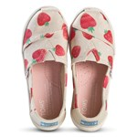 Toms Strawberry Print Espadrilles Beige