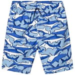 Joules Shark and Stripe Badeshorts Blå