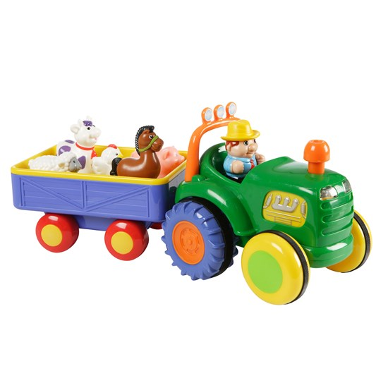 Kiddieland Happy Baby Farm Tractor with Trailer