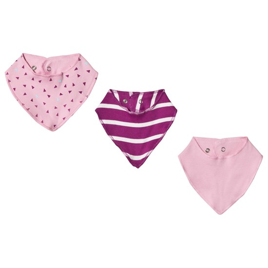 Kuling Newborn Bib/Scarf 3-pak Dusty Rose