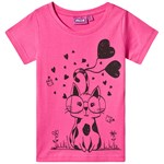 Max Collection Top Pink Cat T-shirt