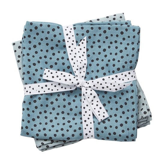 Done by Deer Swaddle 2-pack Happy Dots Blue