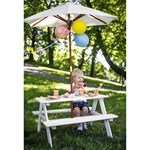 Oliver & Kids Squared Picnic Table Parasol Hvid