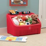 Step2 2-in-1 Toy Box & Art Lid Red