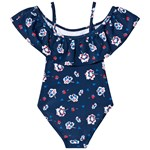 Max Collection Swimsuit Flower Navy