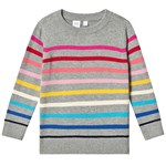Gap Crazy Stribe Sweater Gråmeleret