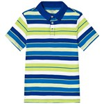 Lands' End Multi Stripe Short Sleeve Polo
