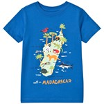 Lands' End Blue Madagascar island Graphic Short Sleeve Tee