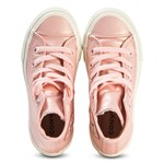 Converse Pink Chuck Taylor All Star Junior Leather Hi Tops