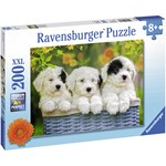Ravensburger Puzzle, Cuddly Puppies, 200 pieces