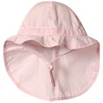Melton Hat W/neck & Bow - Solid Col Baby Pink