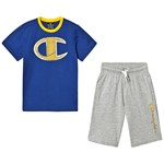 Champion Navy Branded Tee & Shorts Set
