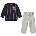 Champion Navy Infants Sweater & Grey Sweatpants