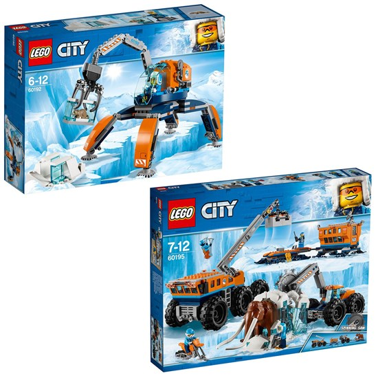 LEGO City Lego City 60192 Ice Crawler + 60195 Mobile Exploration Base