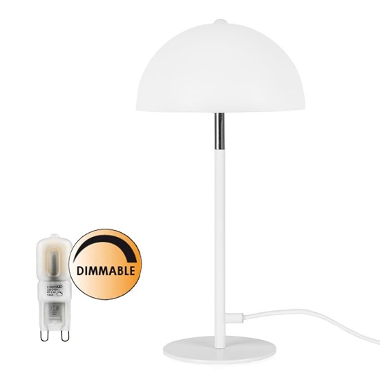 Globen Lighting Paket Icon Bordslampa vit + Ljuskälla