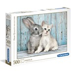 Clementoni Puzzles High Quality Collection Cat & Bunny 500 pcs