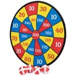 Play Velcro dart game with 4 balls