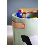 Blafre Canvas Basket, Forest Friends, medium Light green