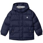 Timberland Navy Water Repellent Puffer Jacket with Removable Hood