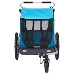 Thule Coaster XT Double Bike Trailer + Stroller