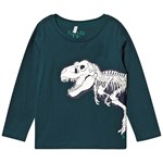 Joules Green Glow in the Dark Dino Skeleton Raymond Long Sleeve T-shirt
