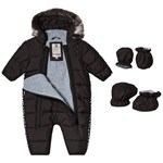 Timberland Black Water Repellent Snowsuit with Mittens and Booties