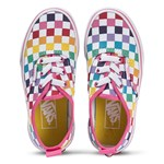 Vans Multi-Coloured Checkerboard Authentic Elastic Lace Kids Trainers