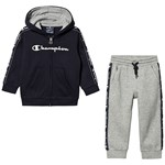 Champion Navy & Grey Infants Hoodie & Sweatpant Set