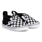 Vans Black & White Slip-On Checkerboard Crib Trainers