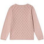 Creamie Cardigan Pointelle Rose Smoke