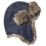 Hatley Navy Faux Fur Trapper Hat