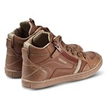 Geox Tan Garcia Leather Zip and Lace High Top Trainers