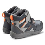 Geox Grey Kuray Amphibiox Waterproof Double Velcro Fleece Lined Boots