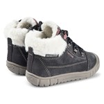Geox Grey Omar Waterproof Fleece Lined Lace Boots