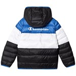 Champion Blue, Navy Colourblock Branded Puffer Coat