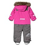 Didriksons Tirian Kids Coverall Plastic Pink