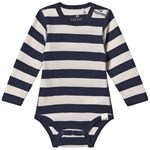 Celavi Stribet Wonder Wollies Baby Body Navy