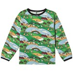 Småfolk Green Landscape Print Long Sleeved T-shirt