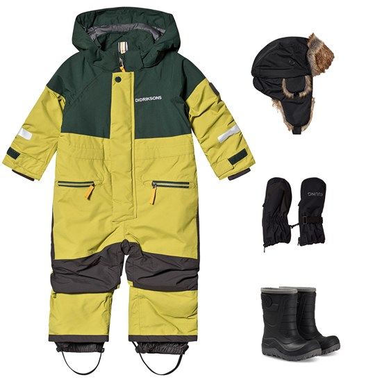 Didriksons Didriksons Cornelius WInter Coverall and Winter Boots and Accessories Green